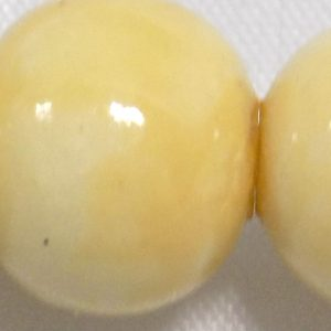 Offwhite 8mm round polished limestone wholesale beads
