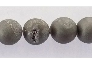 Electroplated Agate Druzy 10mm silver wholesale gemstones
