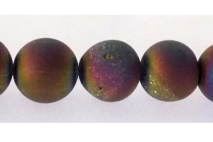 Electroplated Agate Druzy 12mm rainbow wholesale