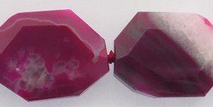 Pink Agate Slab Beads 32x22mm wholesale gemstones