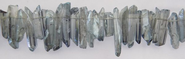 Grey Electroplated Crystal Points wholesale gemstones