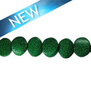 wholesale Irregular palm wood round 19mm beads