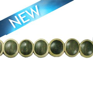 Gray-wood round parqueted component 21mm