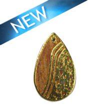 Kamachile wood teardrop carved gold frame