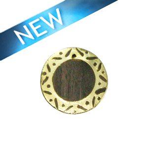 Graywood round gold framed carved 30mm