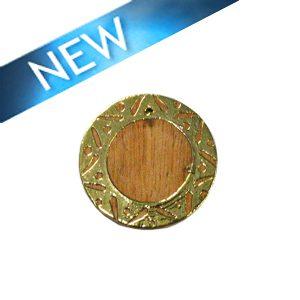 Mahoganny wood round gold framed carved