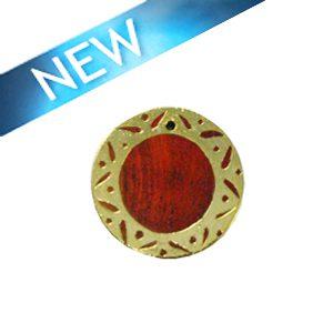Sibucao wood round gold framed carved