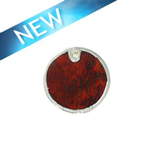 Sibucao wood round silver framed 30mm