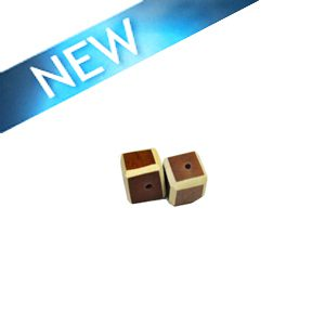 Brown Colored dice wood beads