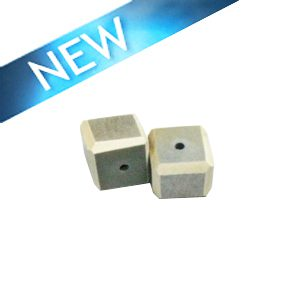 Gray Colored dice wood beads 15mm