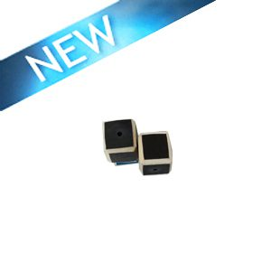 wholesale Black Colored dice wood beads 12mm