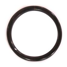 "Black Horn ""O"" Ring No Holes Wholesale Pendants"