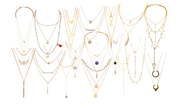 Layered jewelry images
