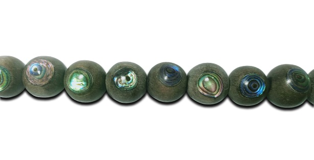 Graywood 12mm round with paua insert